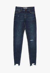 Bershka - LOW WAIST - Jeans Skinny - dark blue - 5