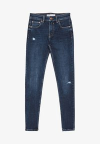 Bershka - PUSH-UP MID WAIST - Jeans Skinny Fit - dark blue - 5