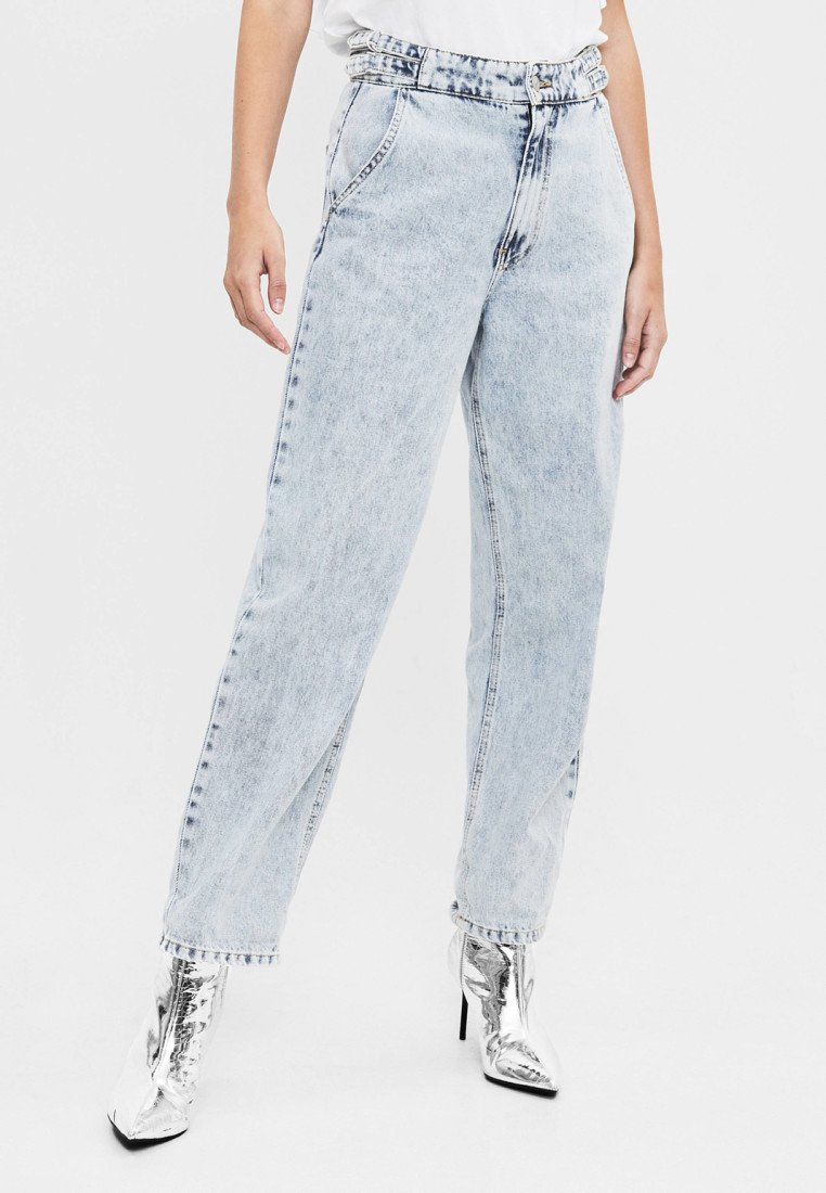 Bershka - IM BALLOON-FIT - Jeans relaxed fit - light blue