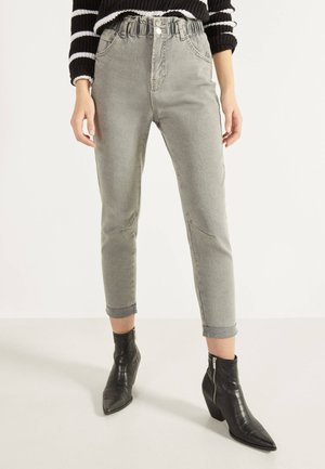 MIT BUNDFALTEN  - Straight leg jeans - dark grey