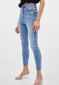 Bershka - Jeans Skinny Fit - blue denim - 0
