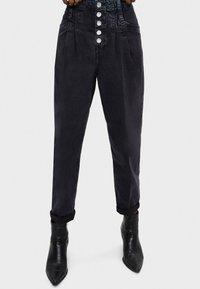 Bershka - Jeans baggy - black - 0