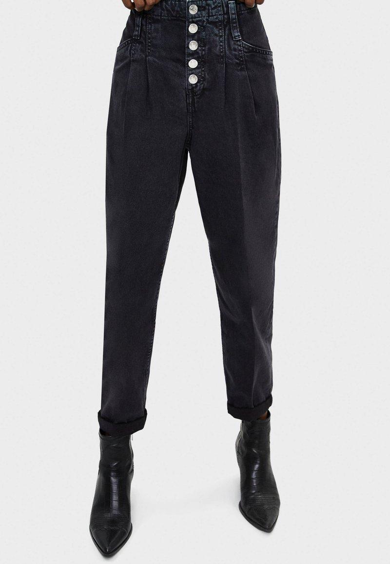 Bershka - Jeans baggy - black