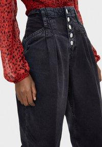 Bershka - Jeans baggy - black - 3