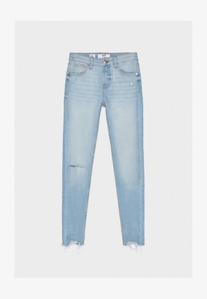 SKINNY-JEANS MIT HOHEM BUND 00001211 - Jeansy Skinny Fit - blue