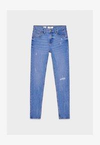 Bershka - SKINNY-JEANS MIT HOHEM BUND 00001211 - Jeans Skinny Fit - blue - 5