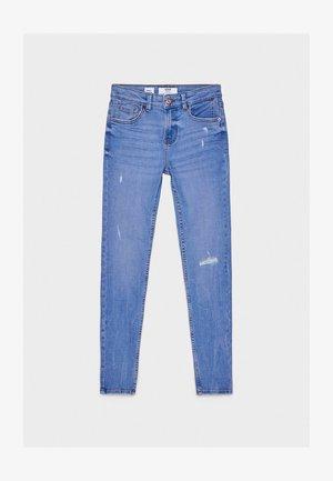 SKINNY-JEANS MIT HOHEM BUND 00001211 - Skinny džíny - blue