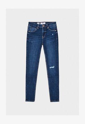 SKINNY-JEANS MIT HOHEM BUND 00001211 - Jeansy Skinny Fit - light blue