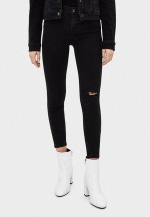 SKINNY-JEANS MIT HOHEM BUND 00001211 - Jeans Skinny Fit - black