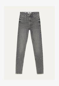 Bershka - SKINNY-FIT-JEANS MIT HOHEM BUND 00004534 - Jeans Skinny Fit - grey - 4