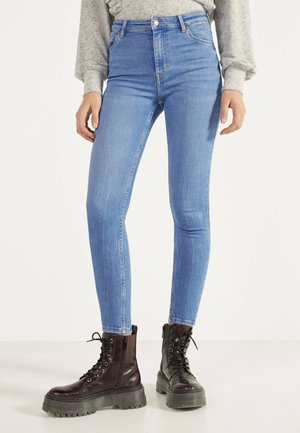 SKINNY-FIT-JEANS MIT HOHEM BUND 00004534 - Jeans Skinny - blue-black denim