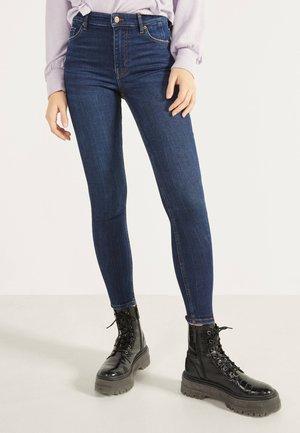 SKINNY-FIT-JEANS MIT HOHEM BUND 00004534 - Jeans Skinny Fit - dark blue