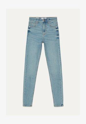 SKINNY-FIT-JEANS MIT HOHEM BUND 00004534 - Jeans Skinny Fit - blue