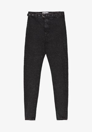 MIT HOHEM BUND UND GÜRTEL - Jeans Skinny Fit - dark grey
