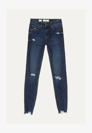 SKINNY-JEANS MIT TIEFEM BUND 00152352 - Jeansy Skinny Fit - dark blue