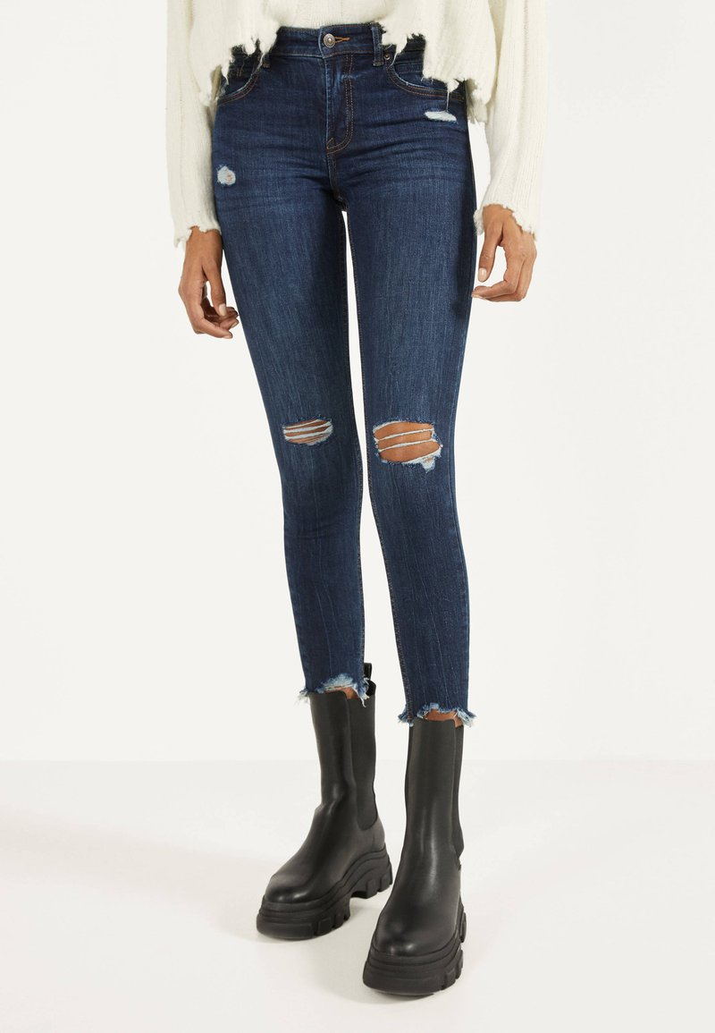 Bershka - Jeans Skinny - dark blue