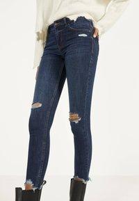 Bershka - Jeans Skinny - dark blue - 3