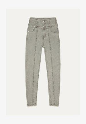 SKINNY-FIT-HOSE MIT ELASTISCHER SCHÄRPE 00049665 - Jeans Skinny Fit - grey