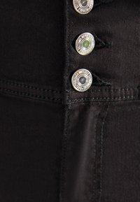 Bershka - SKINNY-FIT-HOSE MIT ELASTISCHER SCHÄRPE 00049665 - Jeans Skinny - black - 5