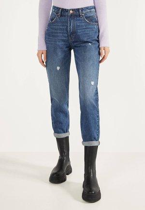 MOM-FIT-JEANS MIT HOHEM BUND 00005352 - Jeans a sigaretta - dark blue