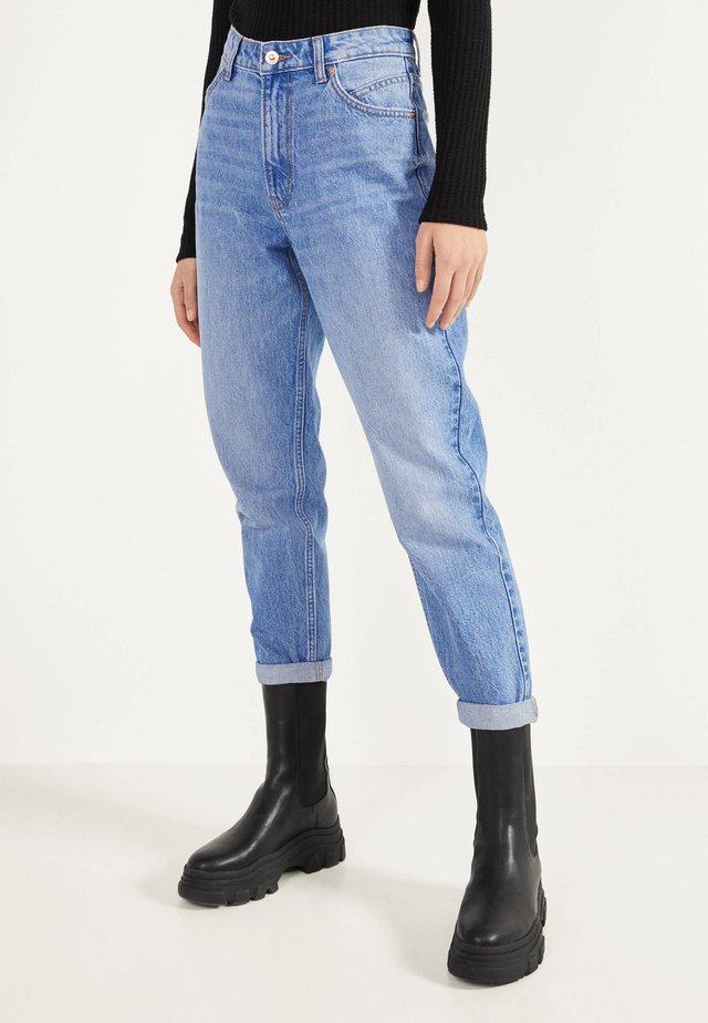 MOM - Straight leg -farkut - blue-black denim