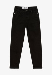 Bershka - MOM - Straight leg jeans - black - 4
