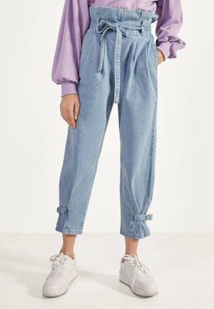 PAPERBAG-JEANS MIT SCHLEIFE 00027220 - Straight leg jeans - blue denim