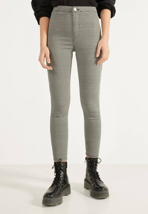 JEGGINGS MIT HOHEM BUND - Jeggings - grey