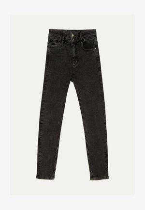 MIT DOPPELTEM BUND - Jeans Skinny Fit - beige