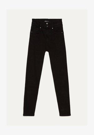 MIT DOPPELTEM BUND - Skinny džíny - black
