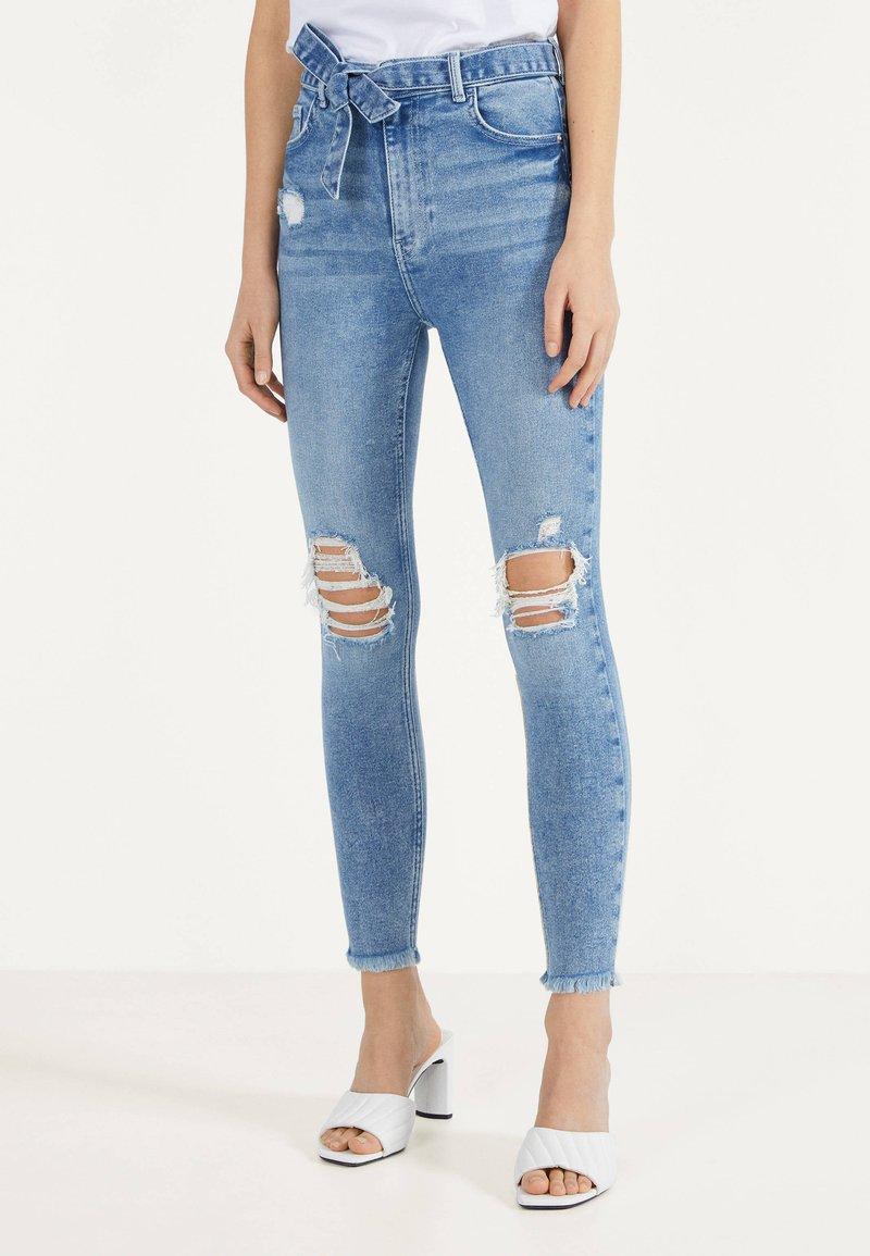 Bershka - Jeans Skinny - blue denim