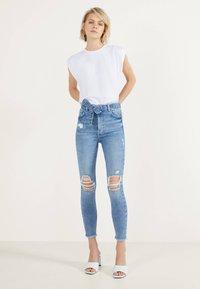 Bershka - Jeans Skinny - blue denim - 1