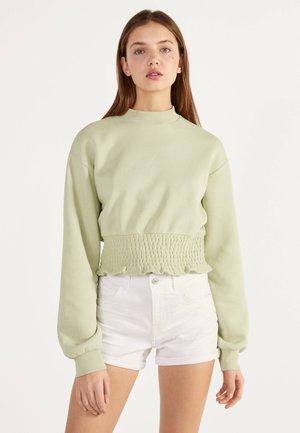 DENIM-SHORTS MIT SAUMAUFSCHLAG 02596211 - Denim shorts - white