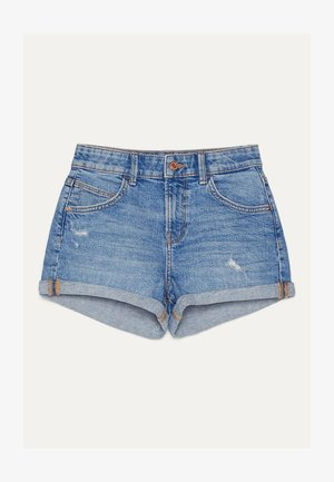 DENIM-SHORTS MIT SAUMAUFSCHLAG 02596211 - Jeansshort - blue-black denim