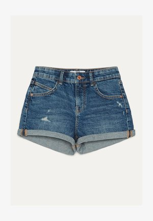 DENIM-SHORTS MIT SAUMAUFSCHLAG 02596211 - Farkkushortsit - light blue