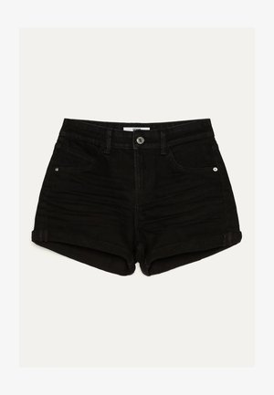 DENIM-SHORTS MIT SAUMAUFSCHLAG 02596211 - Denim shorts - black