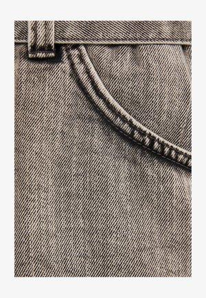 MIT GÜRTEL  - Jeansshort - light grey