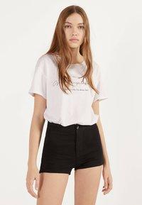 Bershka - Denim shorts - black - 0