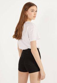 Bershka - Denim shorts - black - 2