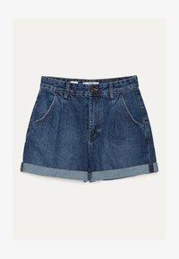 Bershka - MOM - Denim shorts - light blue - 5
