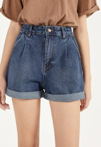Bershka - MOM - Denim shorts - light blue - 3