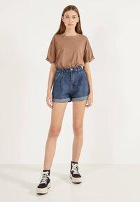 Bershka - MOM - Denim shorts - light blue - 1