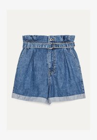 Bershka - MIT SCHNALLE  - Jeans Shorts - light blue - 2