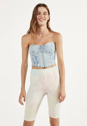 MIT TIE-DYE - Shorts - white