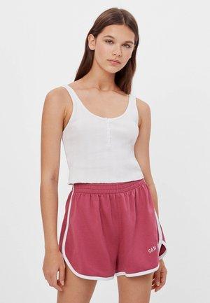 PATENTMUSTER UND KONTRASTEN  - Shorts - pink