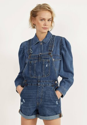 KURZE DENIM-LATZHOSE 02984916 - Dungarees - light blue