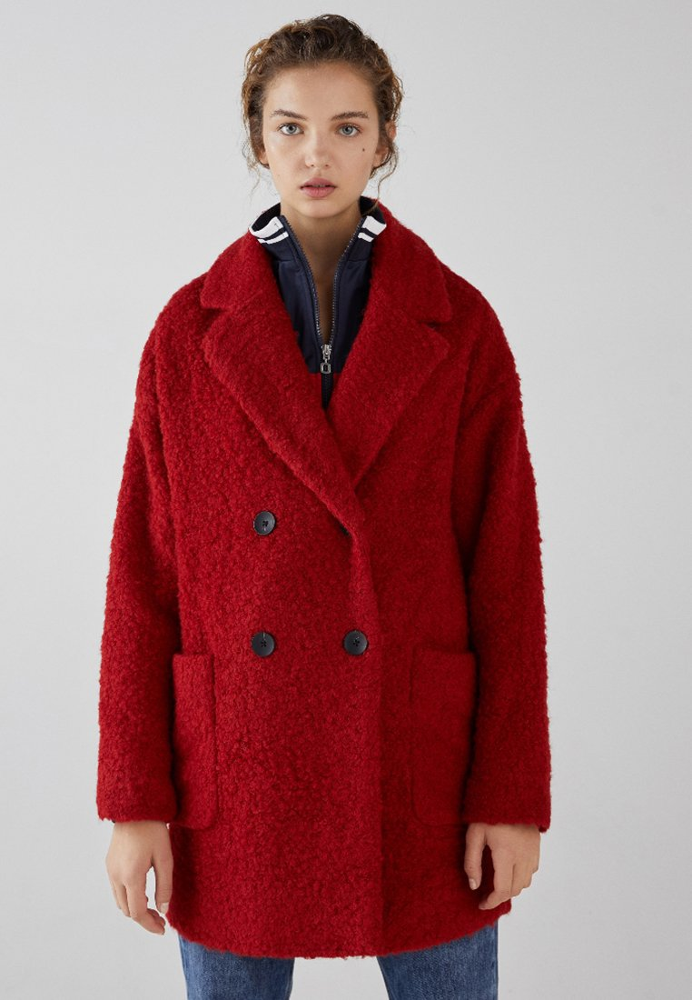 Bershka - Cappotto corto - red