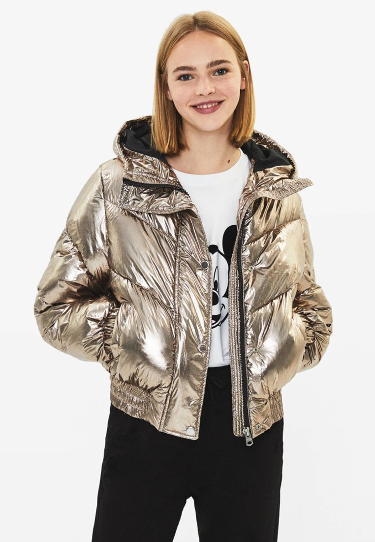 Bershka - Winter jacket - gold