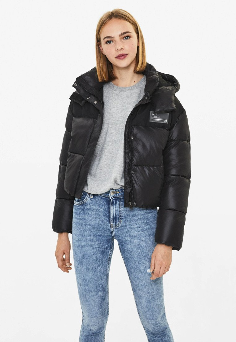 Bershka - Winterjas - black