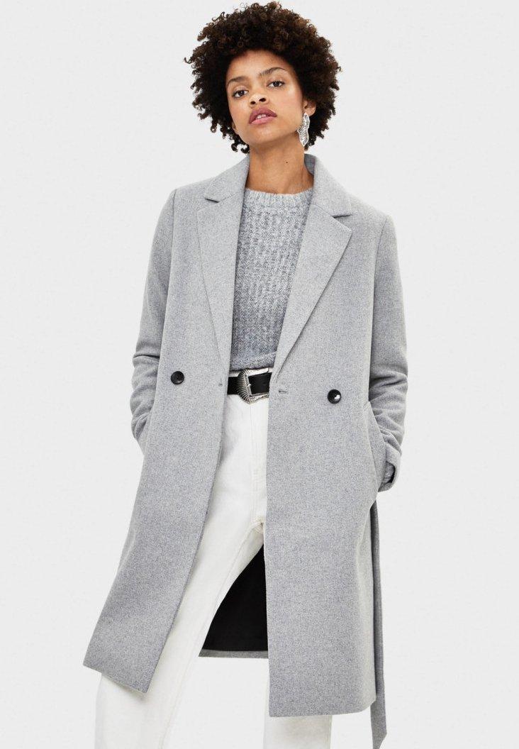 Bershka - Płaszcz wełniany /Płaszcz klasyczny - grey